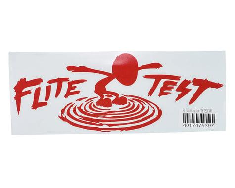 "Flite Test 10.5"" Die Cut Gremlin Logo Vinyl Decal (Red)"