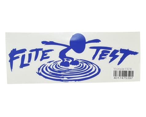 """Flite Test 10.5"""" Die Cut Gremlin Logo Vinyl Decal (Blue)"""