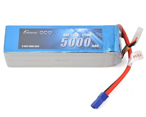 Gens Ace 6S LiPo Battery 60C (22.2V/5000mAh)