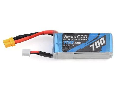 Gens Ace 3s LiPo Battery 60C (11.1V/700mAh) (OMP M2/Logo 200)
