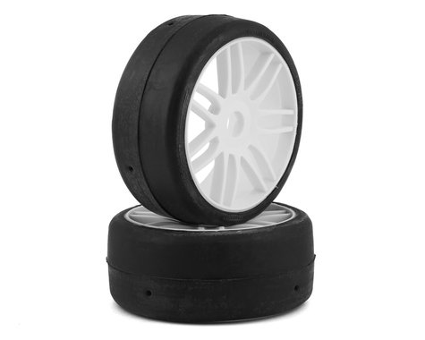 GRP GT - TO2 Slick Belted Pre-Mounted 1/8 Buggy Tires (White) (2) (S1)
