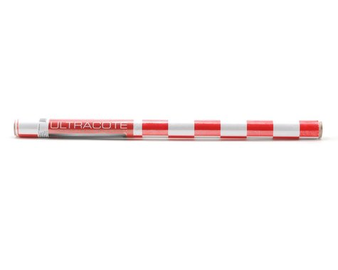 """Hangar 9 UltraCote 2"""" Squares (White/Red) (6.5')"""