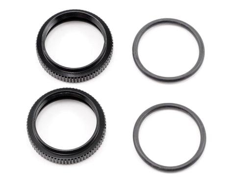 HB Racing Big Bore Pre-Load Adjustment Nut (Black) (2)