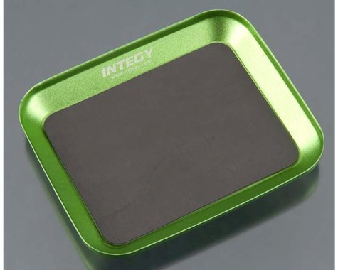 Team Integy Magnetic Parts Storage Tray 88x107mm, Green