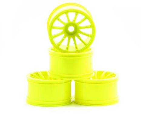 """JConcepts Rulux """"Half Ups"""" LPR 1/8th Truck Wheel 1/2 Offset (Yellow) (4)"""