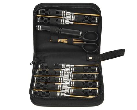 Maxline R/C Products 14 Piece Honeycomb Tool Set w/Case (Black)
