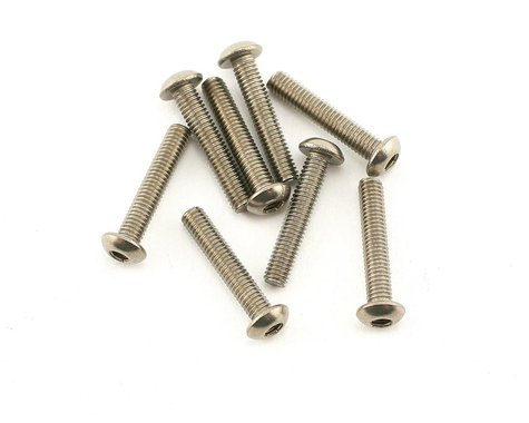 Mugen Seiki 3x16mm SIG Titanium Button Head Screws (8)