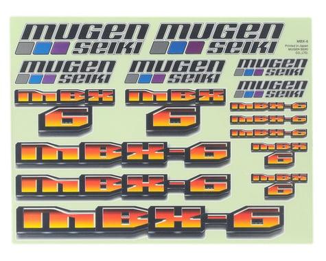 Mugen Seiki MBX6 Decal Sheet