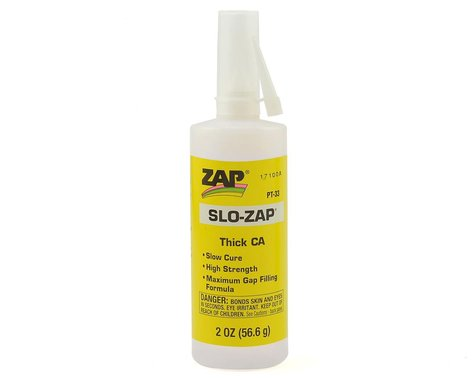 Pacer Technology Slo-Zap CA Glue (Thick) (2oz)