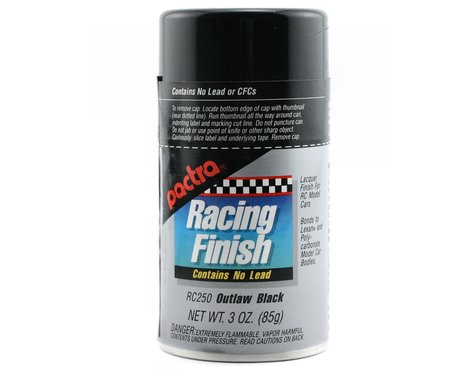 Pactra Outlaw Black Spray Paint (3oz)