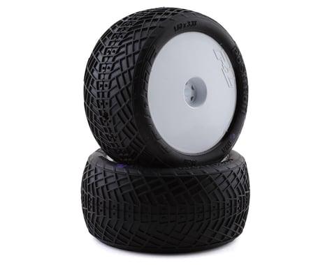 "Pro-Line Positron 2.2"" Rear Buggy Pre-Mounted Tires (2) (White) (MC)"