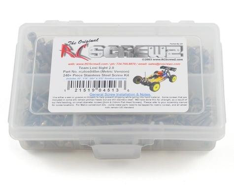 RC Screwz Losi 8ight 2.0 Stainless Steel Screw Kit (Metric Version)