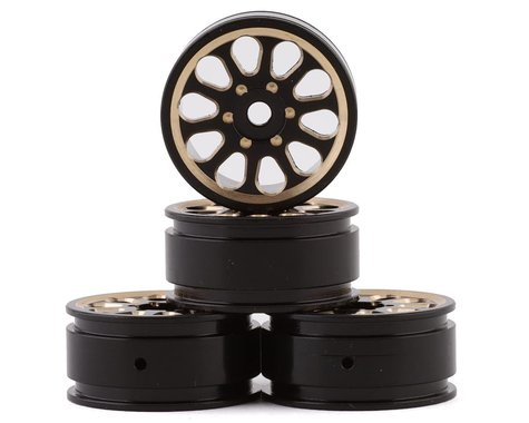 "Samix SCX24 Brass 1.0"" Wheel Set (Black) (4)"