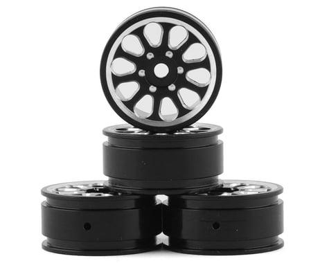 "Samix SCX24 Aluminum 1.0"" Wheel Set (Black) (4)"