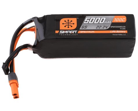 Spektrum RC 6S Smart LiPo 100C Battery Pack w/IC5 Connector