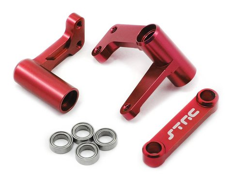 ST Racing Concepts Aluminum Steering Bellcrank System w/Bearings (Red)