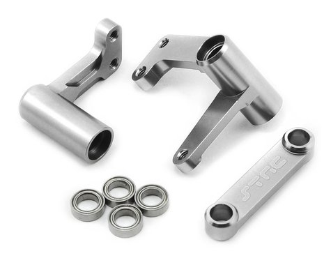 ST Racing Concepts Aluminum Steering Bellcrank Set (w/bearings) (Silver)