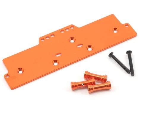 ST Racing Concepts Aluminum Front Adjustable 4-Link Servo/Battery Plate (Orange)