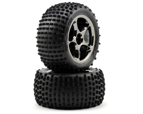 "Traxxas Alias 2.2"" Rear Pre-Mounted Tires (2) (Bandit) (Black Chrome) (Standard)"
