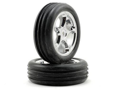 "Traxxas Alias 2.2"" Front Pre-Mounted Tires (2) (Bandit) (Chrome) (Standard)"