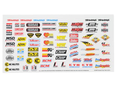Traxxas Racing Sponsors Decal Sheet