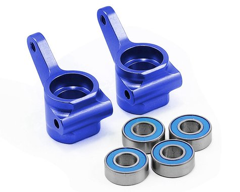 Traxxas Aluminum Steering Blocks w/Ball Bearings (Blue) (2)