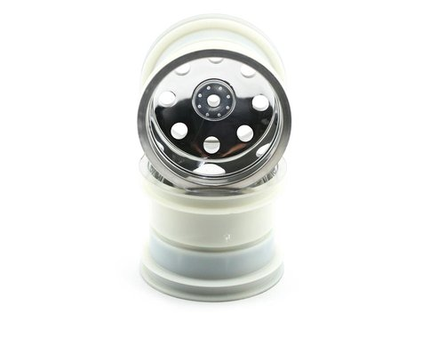 "Traxxas 12mm Hex 2.2"" Front Stadium Truck Wheel (2) (Satin Chrome)"