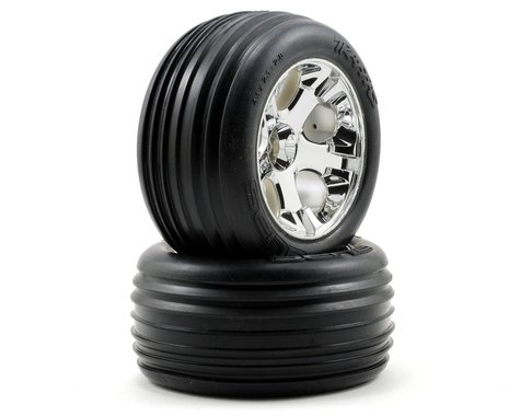 Traxxas Alias Front Tires w/All-Star Wheels (2) (Chrome) (Standard)
