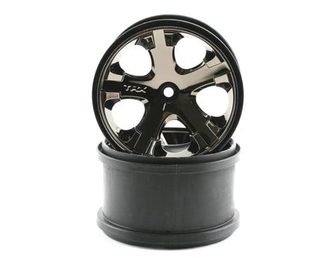 """Traxxas 12mm Hex All-Star 2.8"""" Rear Wheels (2) (Black Chrome)"""