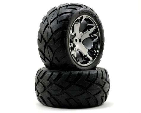 Traxxas Anaconda Rear Tires w/All-Star Wheels (2) (Black Chrome) (Standard)
