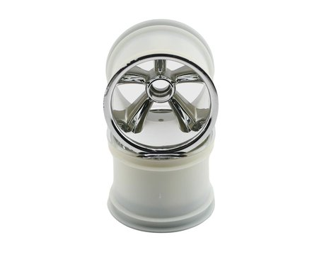 Traxxas Pro-Star Front Wheels (2) (Chrome) (Pins)