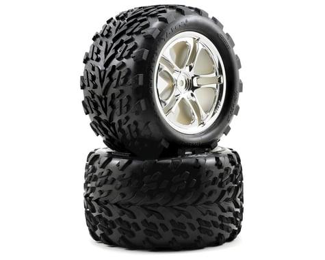 Traxxas Talon Pre-Mounted Tires w/SS Split Spoke Wheels (2) (Revo,TMX) (Chrome)
