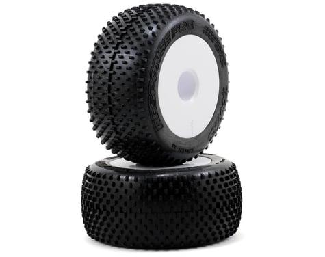 """Traxxas Response Pro Pre-Mounted 3.8"""" Tires w/17mm Dish Wheel (2) (White)"""