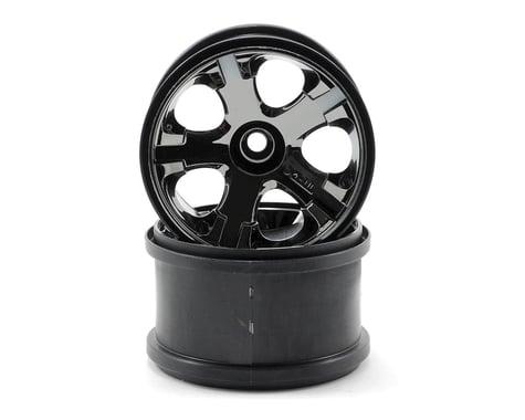 "Traxxas All-Star 2.8"" Front Wheels (2) (Jato, Jato 3.3) (Black Chrome) (Pins)"