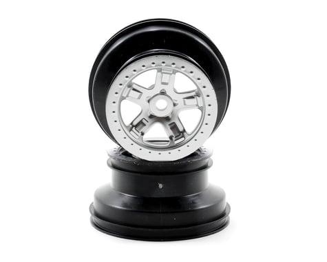 Traxxas 14mm Hex SCT Beadlock Wheel (Satin Chrome/Black) (2)