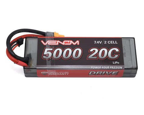 Venom Power 2S LiPo 20C Battery Pack w/UNI 2.0 Connector (7.4V/5000mAh)