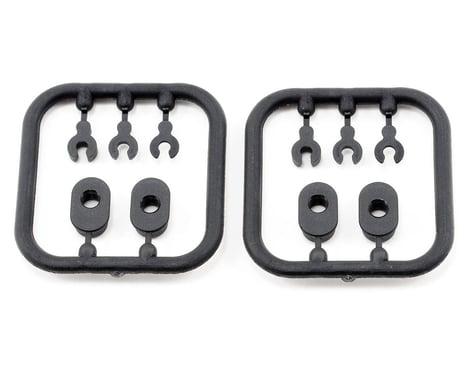 Xray Composite Eccentric Bushings/Caster Clips (2)
