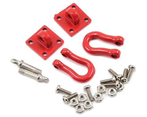 Yeah Racing 1/10 Crawler Scale Heavy Duty Shackle w/Mounting Bracket (Red) (2)