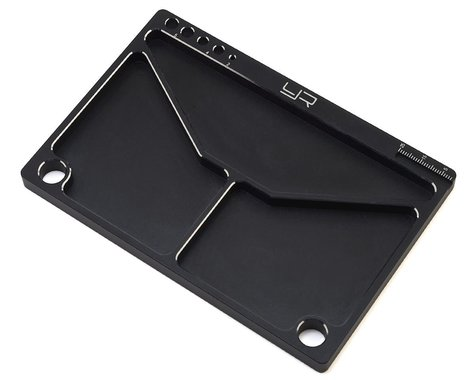 Yeah Racing Aluminum Parts Tray (Black) (145x95x5mm)