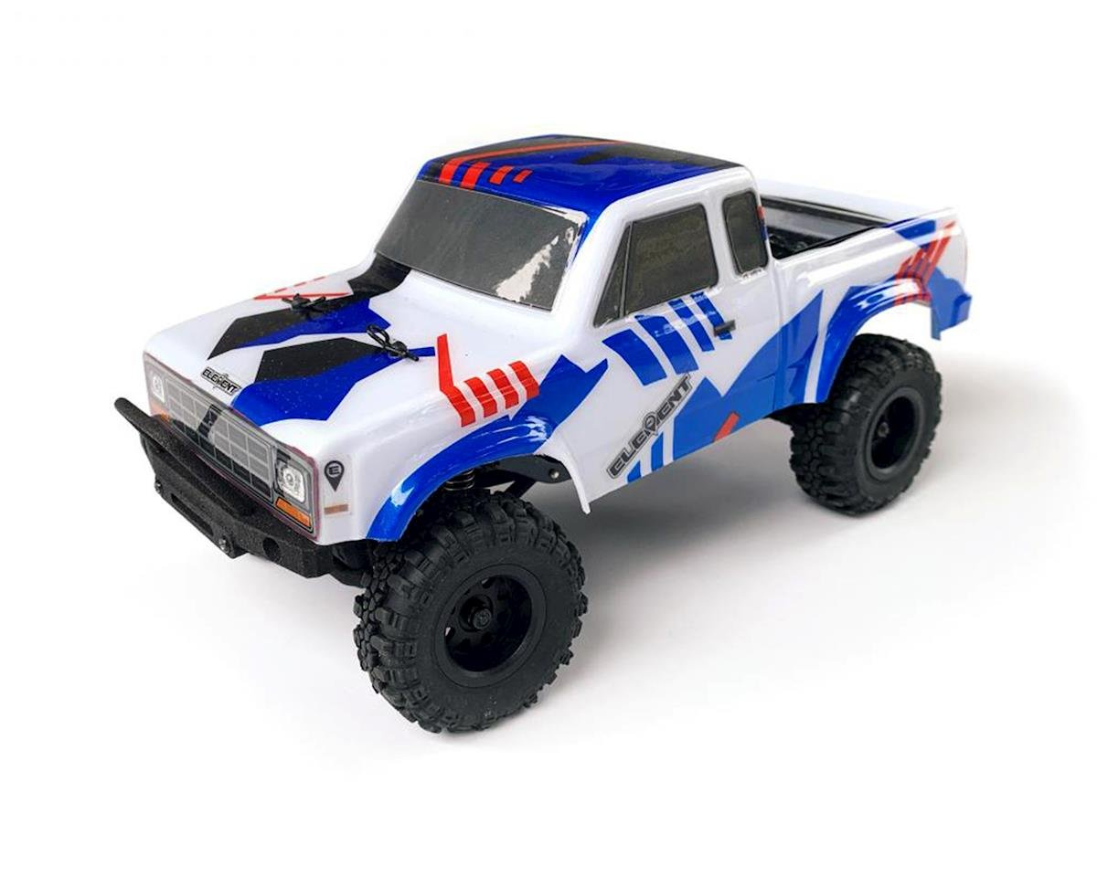 Element RC Enduro24 Sendero 4WD RTR Scale Mini Trail Truck in Red and Blue with 2.4GHz Radio ASC20181