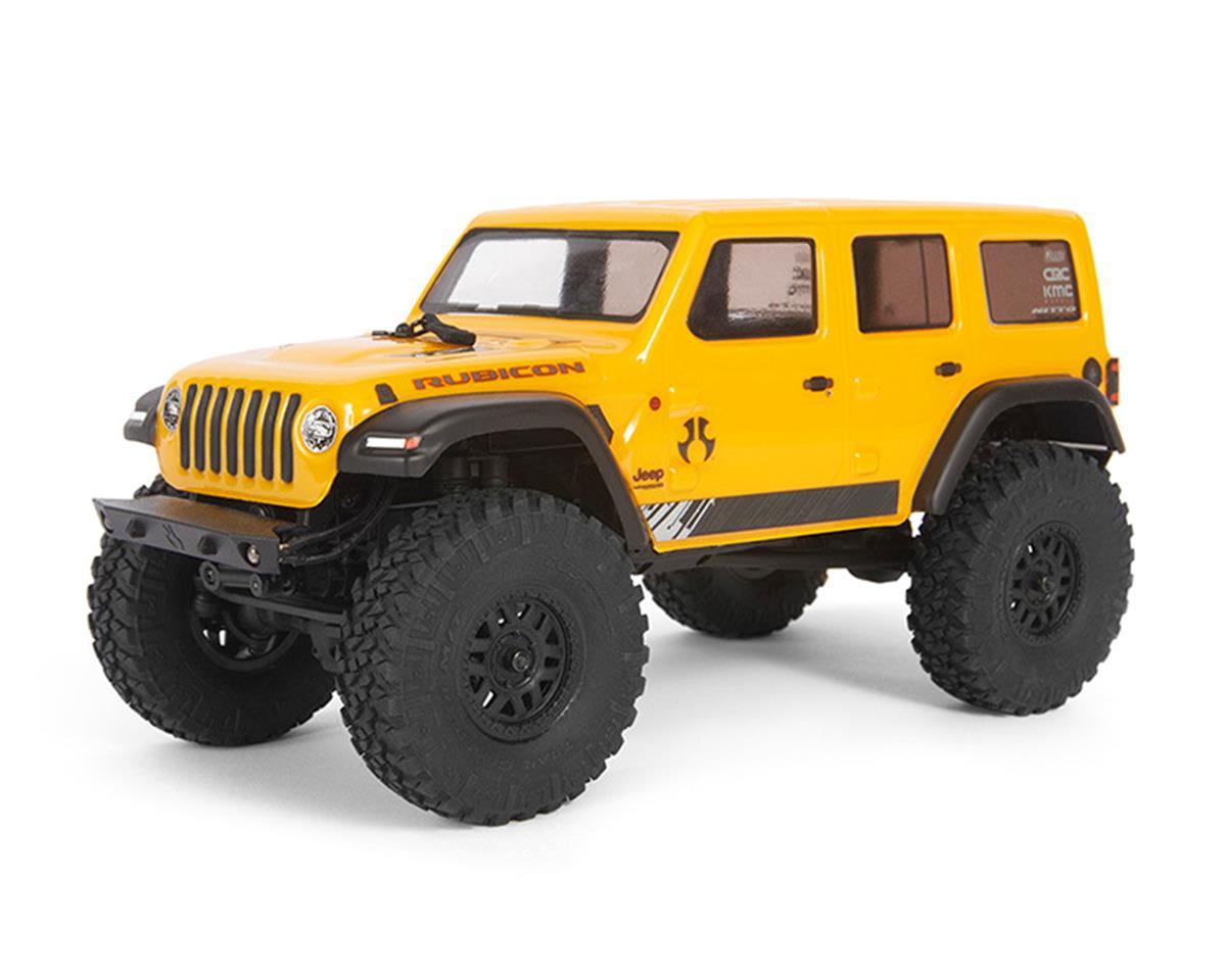 Axial SCX24 2019 Jeep Wrangler JLU CRC 4WD RTR Scale Mini Crawler Yellow 2.4GHz Radio AXI00002T2