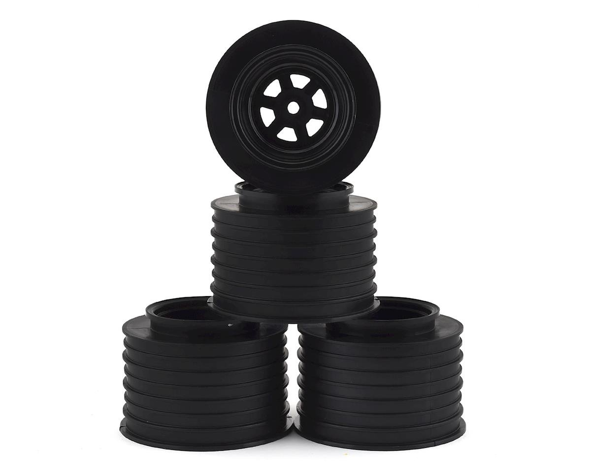 DE Racing Gambler Rear Sprint Wheels (AE/TLR) (Black) w/12mm Hex DER-GSR-AB