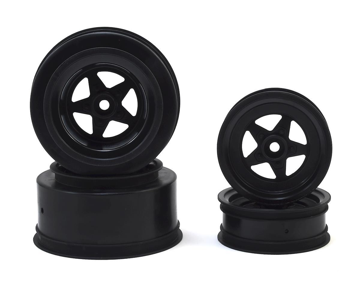 JConcepts Startec Street Eliminator Drag Racing Wheels (Black) w/12mm Hex (2x Rear SCT Wheels & 2x Front Buggy Wheels) JCO3387B