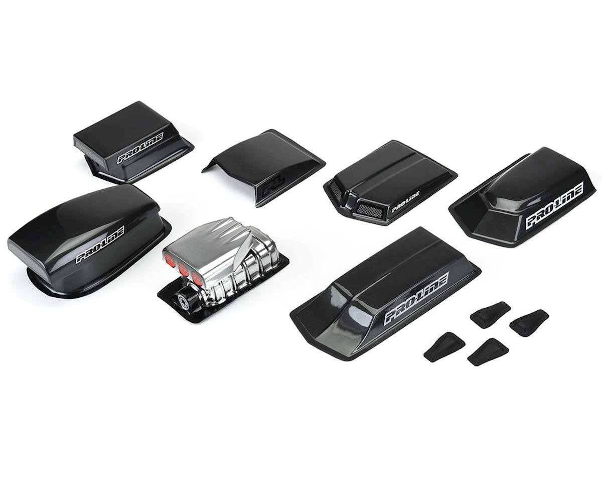 Pro-Line Hood Scoops & Blowers No Prep Drag Racing Variety Pack (Clear) PRO6368-00