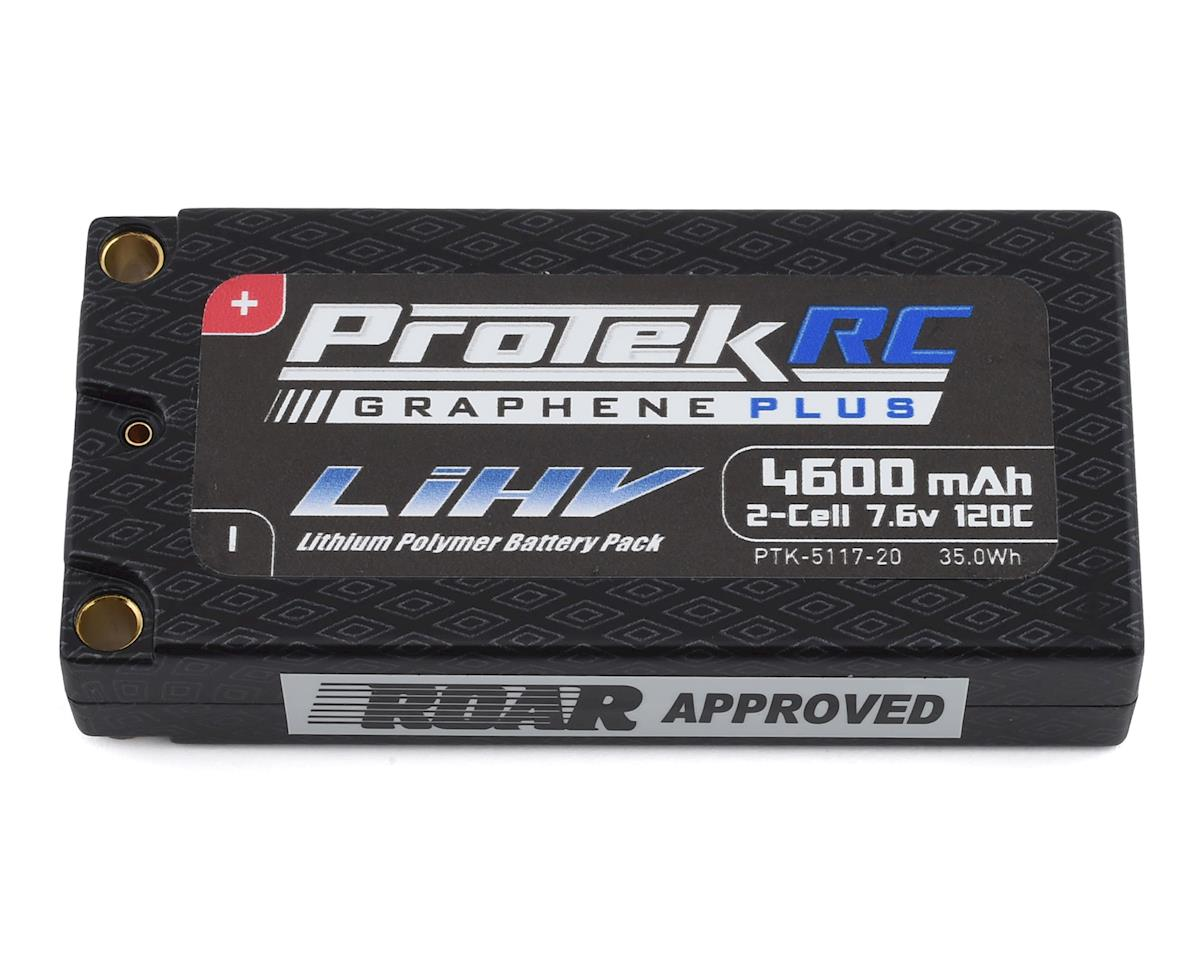 ProTek RC 2S 120C Low IR Si-Graphene HV LCG Shorty LiPo Battery 7.6V 4600mAh with 5mm Connectors ROAR Approved PTK-5117-20